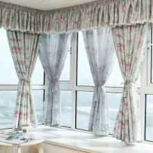 定制 客厅卧室遮阳台田园全遮光窗帘布料成品特价平面飘窗纱帘避光清新