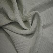 苎麻棉起皱布