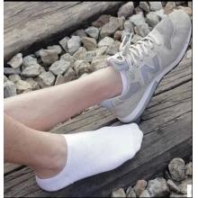 袜子女男短袜低帮隐形船袜春夏防臭纯色黑色白色全棉短筒袜