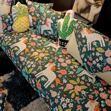 布艺儿童卡通沙发垫四季通用防滑沙发巾飘窗垫纯棉坐垫韩式沙发套
