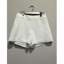 白色提花短裤