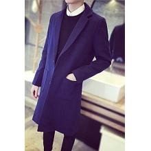2016春季新款男士呢绒风衣男春天韩版修身青年毛呢外套妮子大衣潮