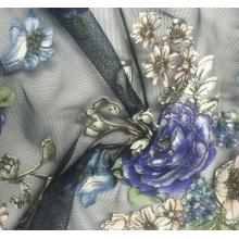 玫瑰花云秀网布面料