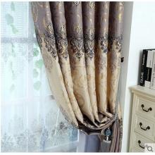 黛玫恩烫金印花全遮光窗帘欧式田园窗帘短帘客厅卧室定制成品窗帘