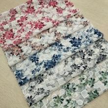 春夏时尚女装面料 独特的网布雪纺绣花印花面料 等你选择