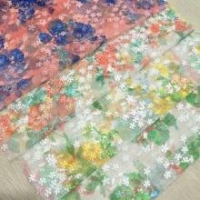 春夏时尚女装面料  网布绣花 独特的小花形状与网布完美结合