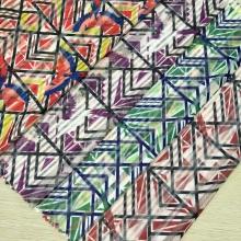 春夏女装条纹网印花面料  特色花型搭配独特网布完美呈现  各种风格任你挑选