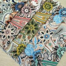 春夏季印花休闲花卉女装涤纶化纤面料  独特的民族花型等你来选