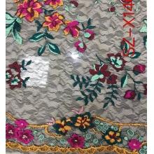 网布多套色绣花、蕾丝多套色绣花