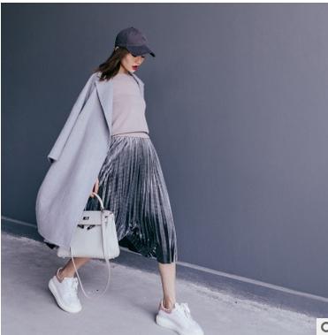 韩国客户定制冬装双面羊绒大衣韩版女装茧型中长款毛呢外套