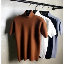 (实拍)2016年秋韩版短袖宽松加厚半高领女套头打底针织衫厂家直销