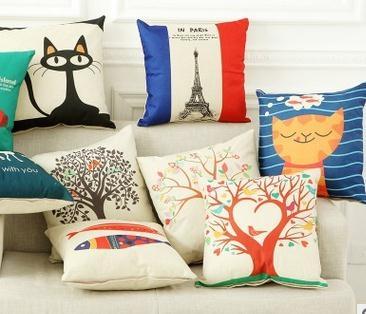 厂家直销品质保证 棉麻靠垫沙发抱枕含芯 家具礼品采购午休腰靠