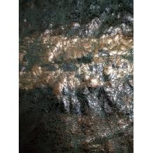 染色弹力海岛丝麂皮绒蛇皮纹烫印面料