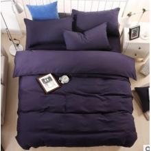 厂家直销纯色棉四件套 双拼亲肤棉套件 床上用品四件套批发