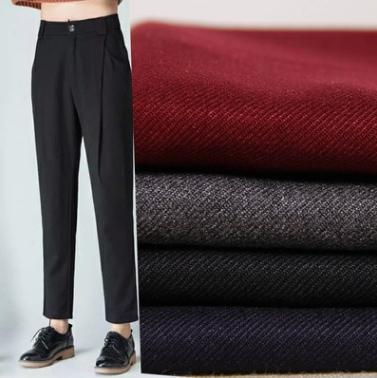 货供应时尚TR布斜纹涤纶亚博国际网站首页休闲西装裤子服装布料