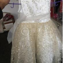 厂家直销全涤网布绣花满天星女装童装面料