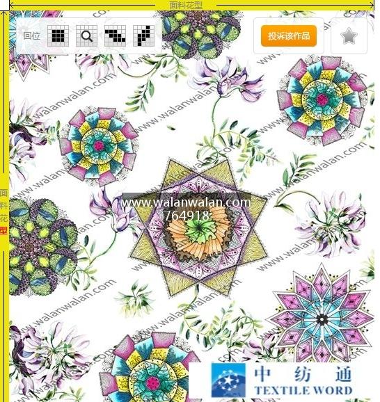 瓦栏网walanwalan.com,是亚博国际网站首页花型设计服务的首选网站,是花型设计师的共享经济平台--编 号: 764918-花卉与民族风花纹结合