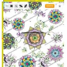 瓦栏网walanwalan.com,是面料花型设计服务的首选网站,是花型设计师的共享经济平台--编 号: 764918-花卉与民族风花纹结合