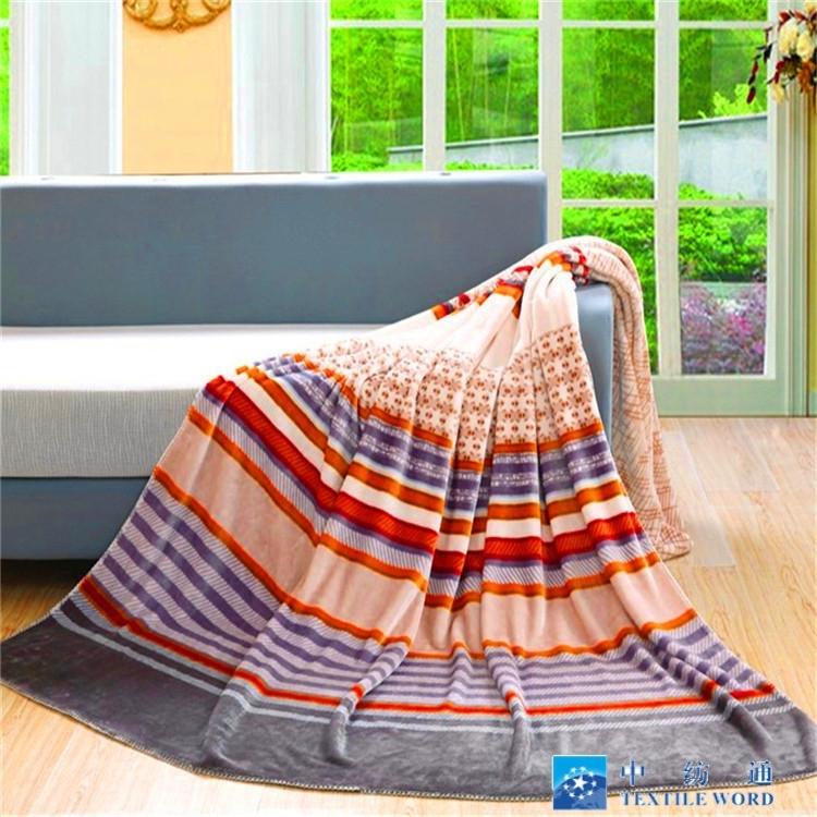 100%涤纶超软法兰绒毯子