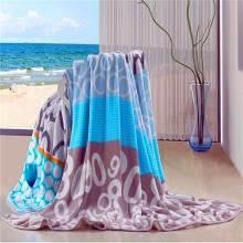 高质量针织三维胶印花法兰绒羊毛织物