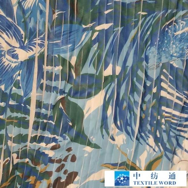 生产加工各类亚博国际网站首页,雪纺类经向,纬向褶皱印花