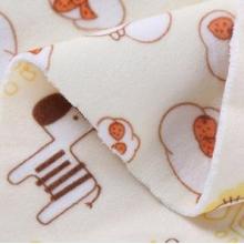 隔尿垫三层复合婴乐绒面料 卡通印花绒布现货 涤纶服装布料批发