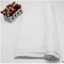 厂家批发 纯棉双层纱布布料 母婴布料口水巾尿片无荧光纱布 坯布