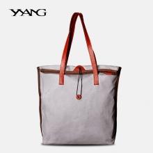 厂家生产定制直销 漾 复古纯色原创帆布女包 单肩包新款欧美时尚手提大包