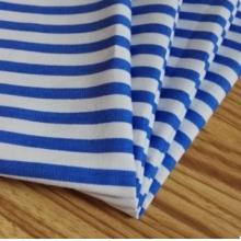 厂家直销 病号服面料 医护用蓝白条 涤棉平纹耐氯漂 医用面料