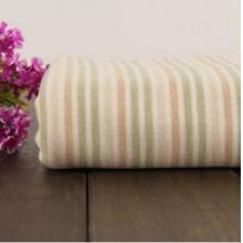 厂家直销全棉天然有机彩棉现货供应 五彩条双面布婴儿用面料批发