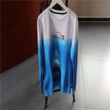 蓝色印花长袖休闲上衣4